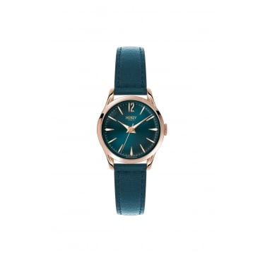 Henry London Ladies RG Teal Dial, Teal Leather Strap