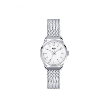 Henry London Ladies Stainless Steel Case White Dial with Mesh Bracelet