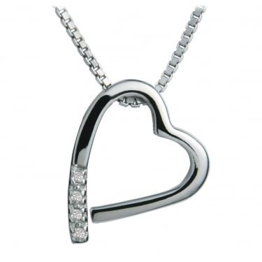 Hot Diamond Collection Jal Heart Pave End Pendant
