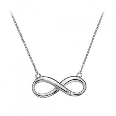 Hot Diamond Silver Infinity Necklace
