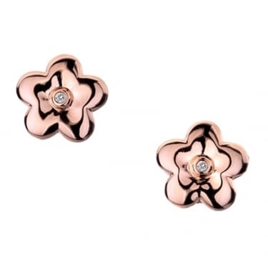 Hot Diamond Collection Shades Of Spring Blossom Stud Earrings