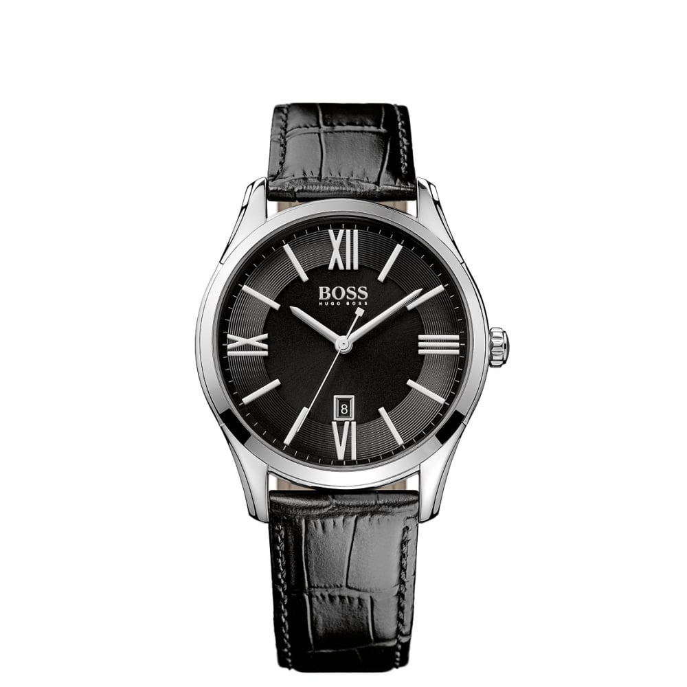 Hugo Boss Hugo Boss Black Leather Strap With Black Face Watch