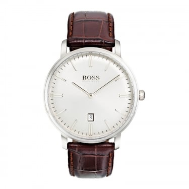 Hugo Boss Gents Brown Leather Strap Watch