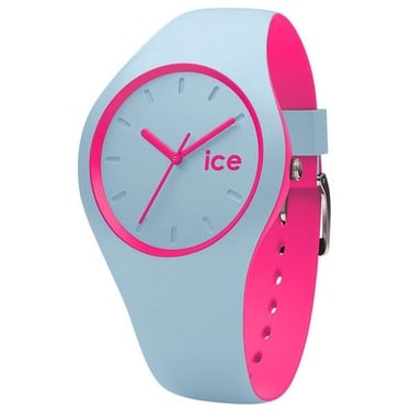 Ice Duo Blue Pink Silicone Strap Watch
