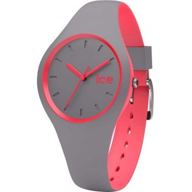 Ice Duo Dusty Coral Silicone Strap Watch