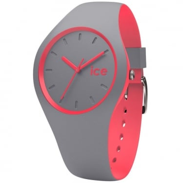 Ice Duo Grey Pink Silicone Strap Watch