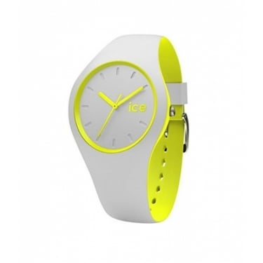 Ice Duo Grey Yellow Silicone Strap Watch