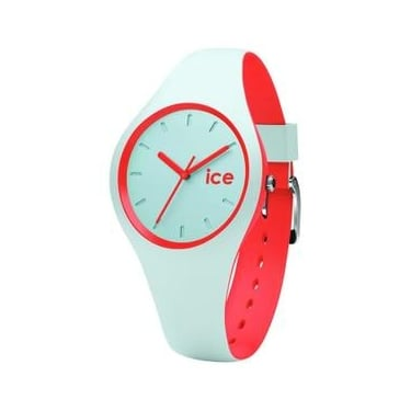 Ice Duo Mint Coral Silicone Strap Watch