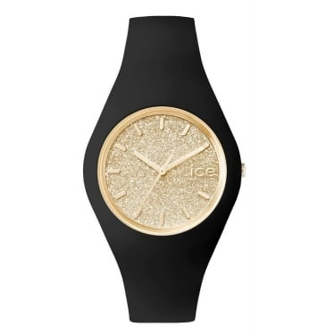 Ice Glitter Small Black and Gold Watch