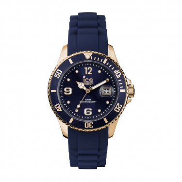 Ice Navy and Yellow Gold Watch