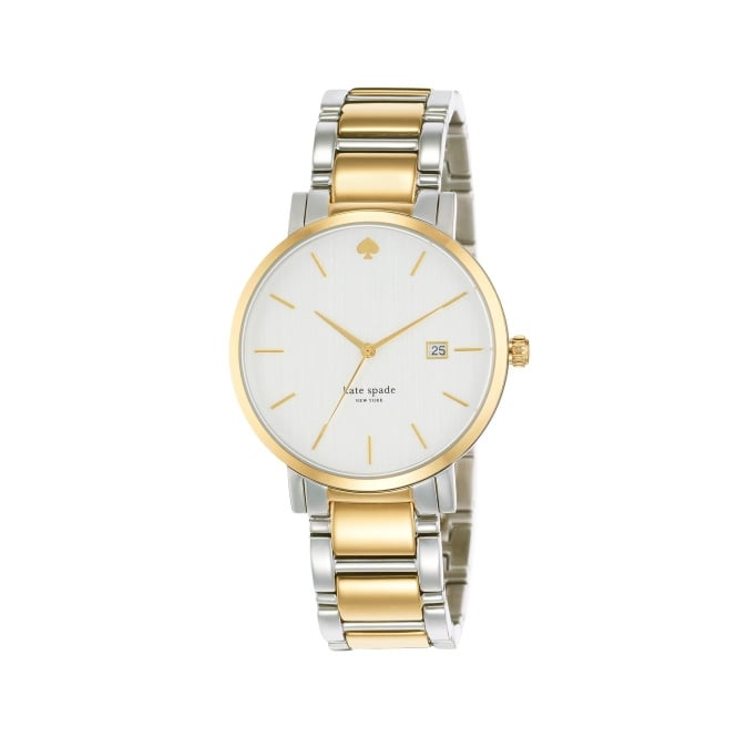 Kate Spade Classic Gramercy Grand Silver and Yellow Gold Watch