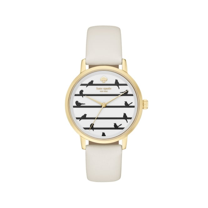 Kate Spade Critter Metro Birds Gold and White Watch