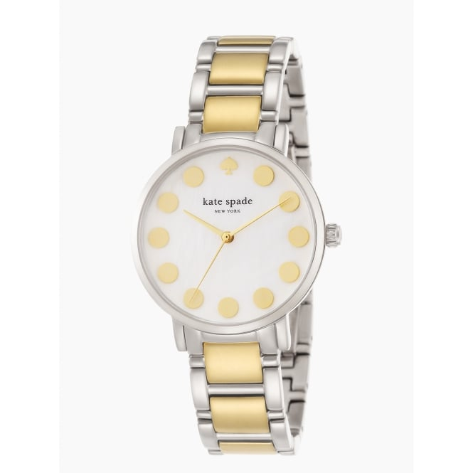 Kate Spade Gramercy Dot Silver and Yellow Gold Bracelet Watch