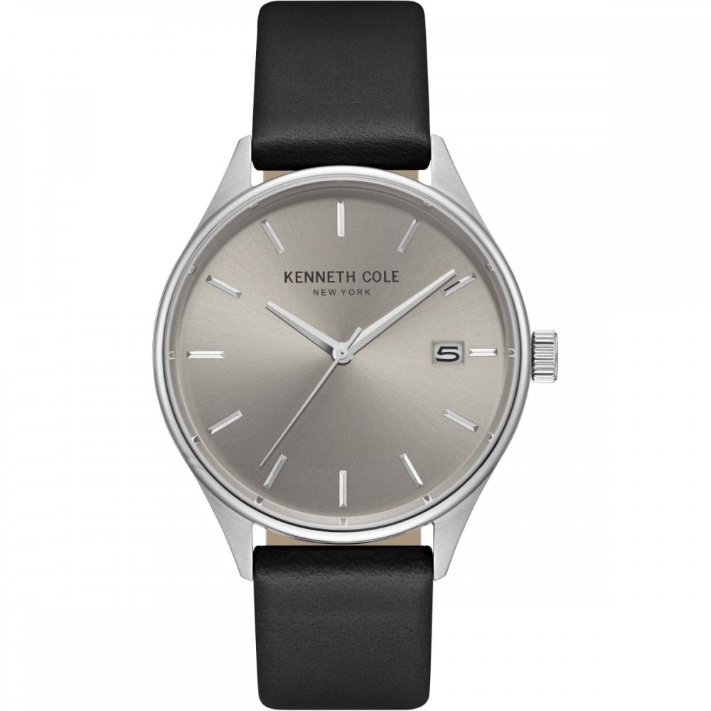 e459ef71f Kenneth Cole Gents Varick Black Leather Watch - Men's Watches from ...