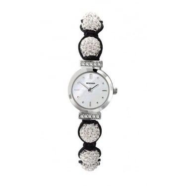 Ladies Crystalla Candy Bling Watch White