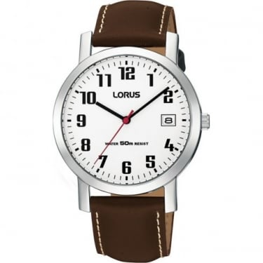 Lorus Gents Brown Leather Watch