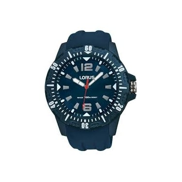 Lorus Gents Navy Rubber Watch