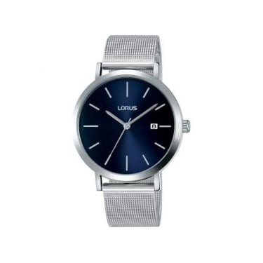Lorus Gents Silver Navy Watch