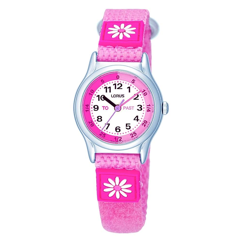 Lorus kids watch pink with flowers watches from faith jewellers uk lorus kids watch pink with flowers mightylinksfo