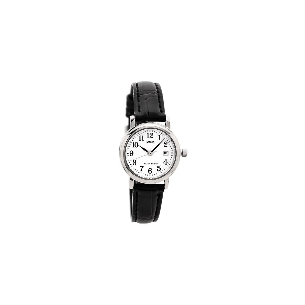 5b5a9d102 Lorus Ladies Black Leather Watch - Women's Watches from Faith ...