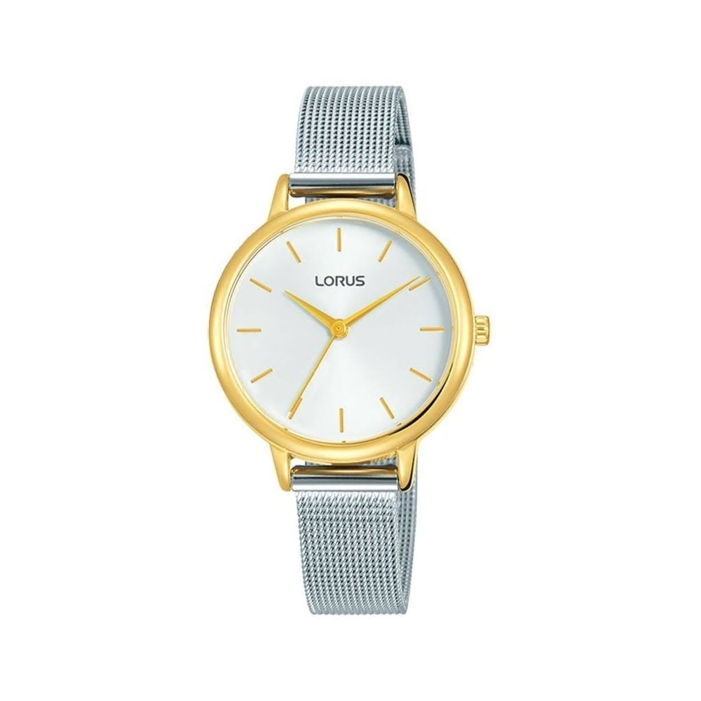 19baf04970bbc Lorus Ladies Silver Yellow Gold Mesh Watch - Women s Watches from ...