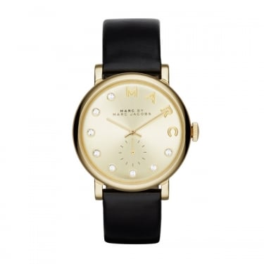 Marc by Marc Jacobs Baker Dexter Black Leather Watch