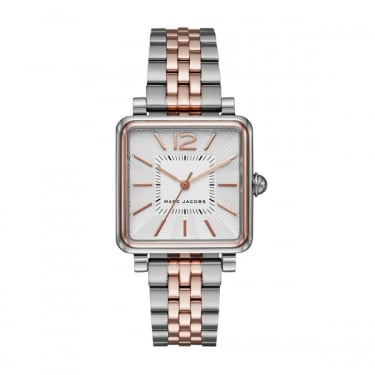 Marc by Marc Jacobs Classic Vic Silver and Rose Gold Watch