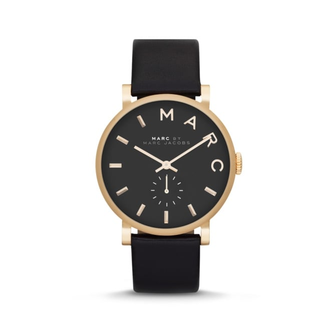 Marc Jacobs Marc by Ladies Baker Black Leather Watch