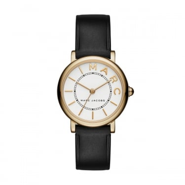 Marc by Marc Jacobs Ladies Black Leather Watch