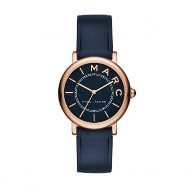 Marc by Marc Jacobs Ladies Navy Leather Watch