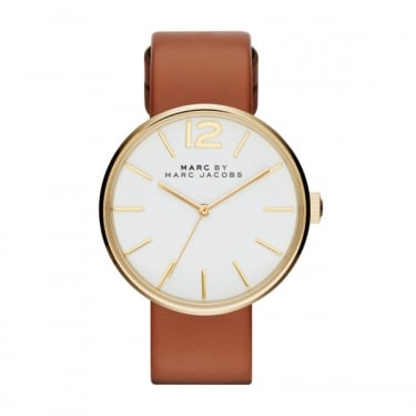 Marc by Marc Jacobs Ladies Peggy Tan Leather Watch