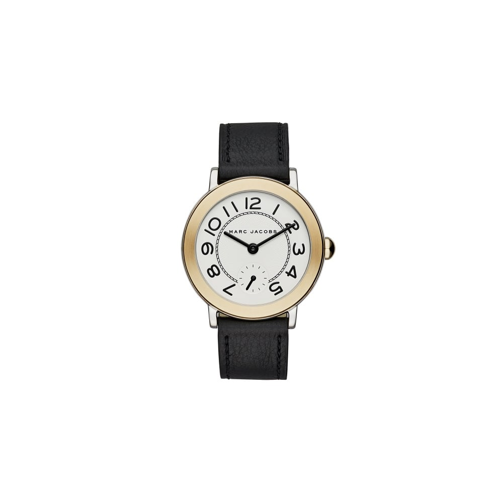 212fa545bb46e Marc Jacobs Marc by Marc Jacobs Ladies Riley Black Leather Strap ...