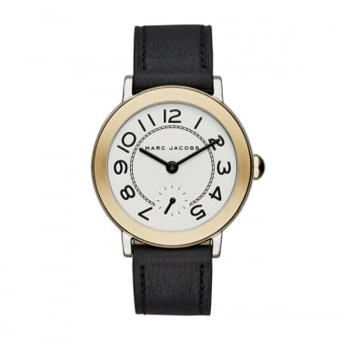 Marc by Marc Jacobs Ladies Riley Black Leather Strap Watch