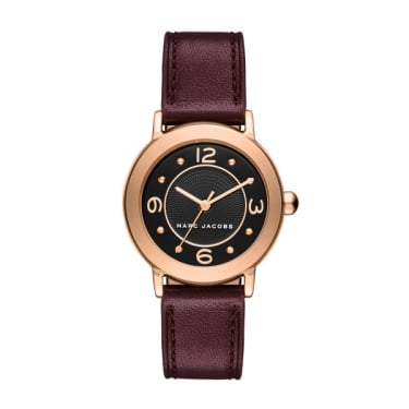 Marc by Marc Jacobs Ladies Riley Burgundy Leather Strap Watch