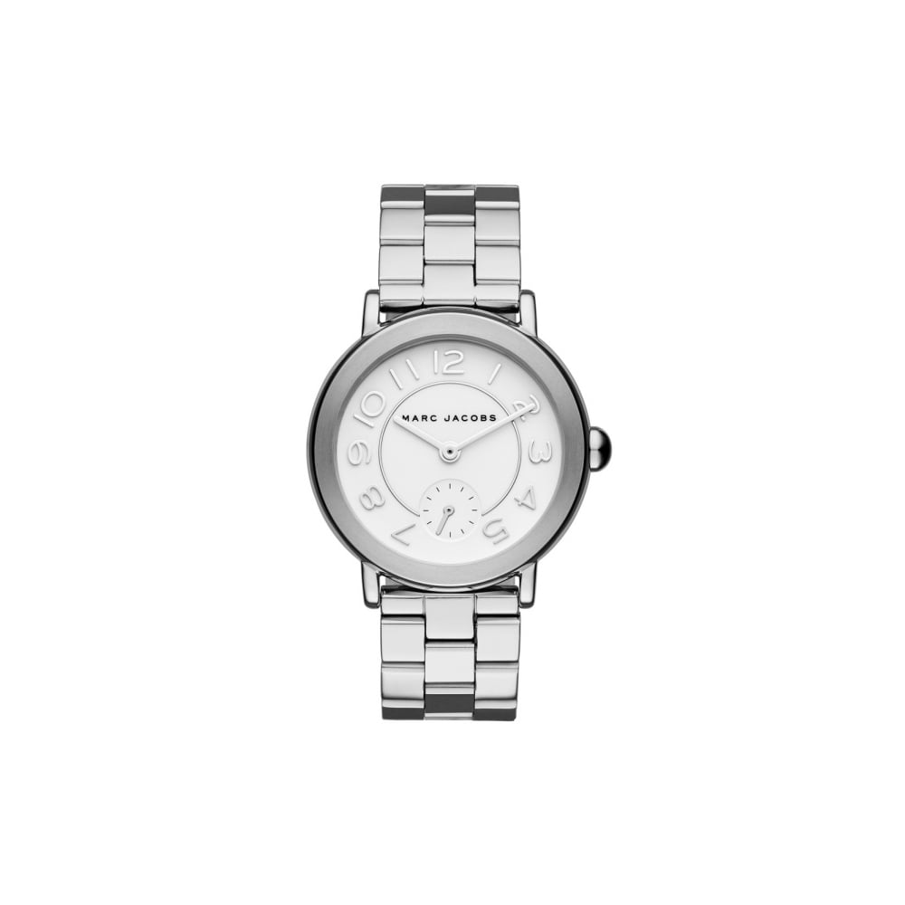 f6fbc693e6646 Marc Jacobs Marc by Marc Jacobs Ladies Riley Silver Watch - Watches ...