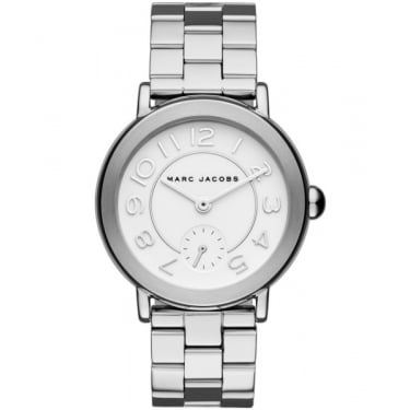 Marc by Marc Jacobs Ladies Riley Silver Watch
