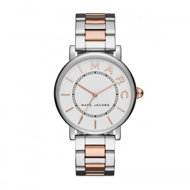 Marc by Marc Jacobs Ladies Silver Rose Gold Watch