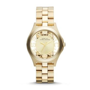 Marc by Marc Jacobs Ladies Skeleton Gold Tone Watch