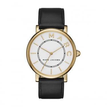 Marc by Marc Jacobs Roxy Black Leather Strap Watch