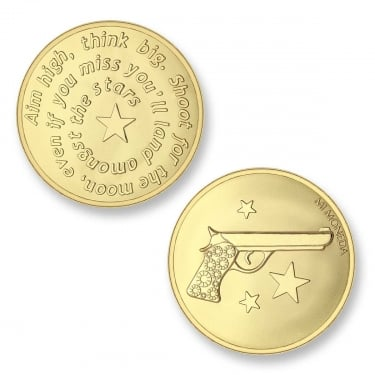 Mi Moneda Aim High - Pistol Yellow Gold Medium