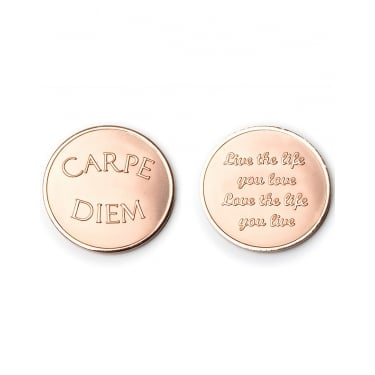 Mi Moneda Carpe Diem-Live the Life Rose Gold Large