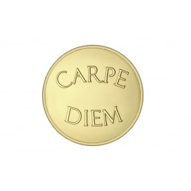 Mi Moneda Carpe Diem-Live the Life Yellow Gold Medium