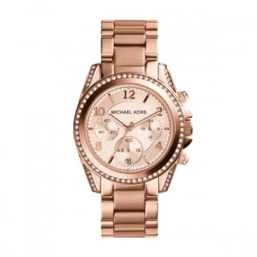 Michael Kors Blair Glitz Gold Tone Ladies Watch