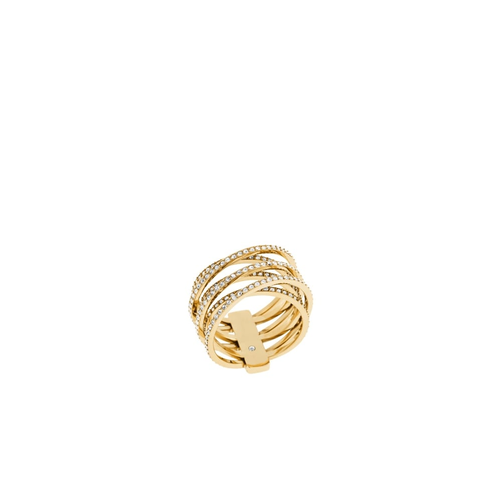 ee68c7b82ed9a Michael Kors Brilliance Range Yellow Gold Ring - Jewellery from ...