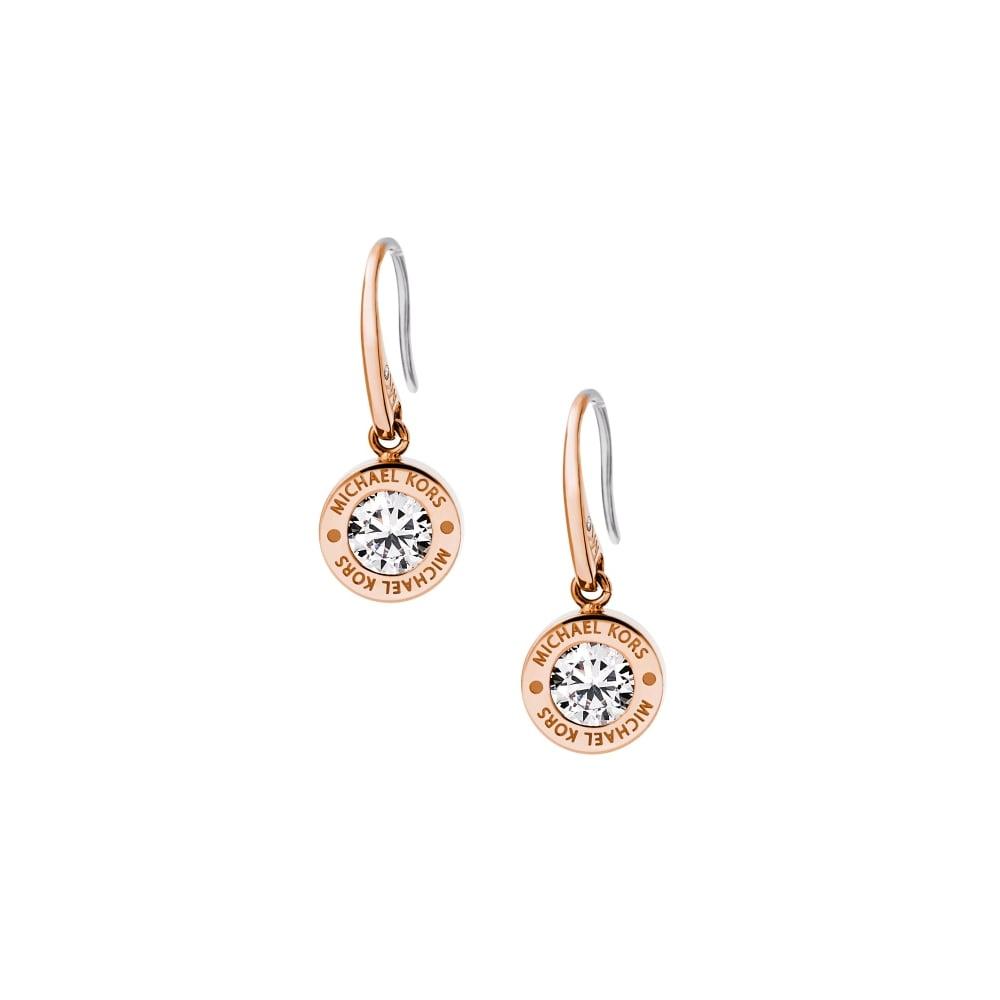 Michael Kors Brilliance Rose Gold Earrings