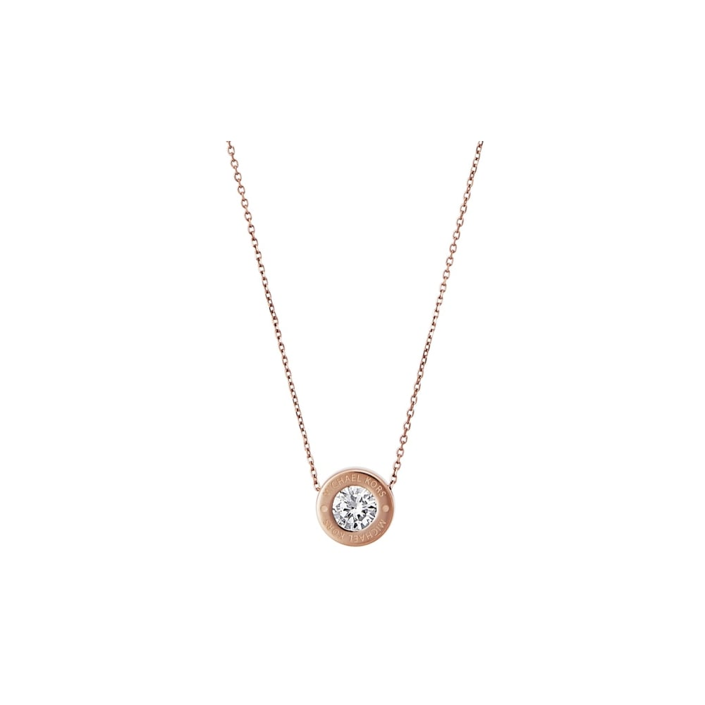 Michael Kors Brilliance Rose Gold Necklace - Jewellery from Faith ... 5b2938fd81f4