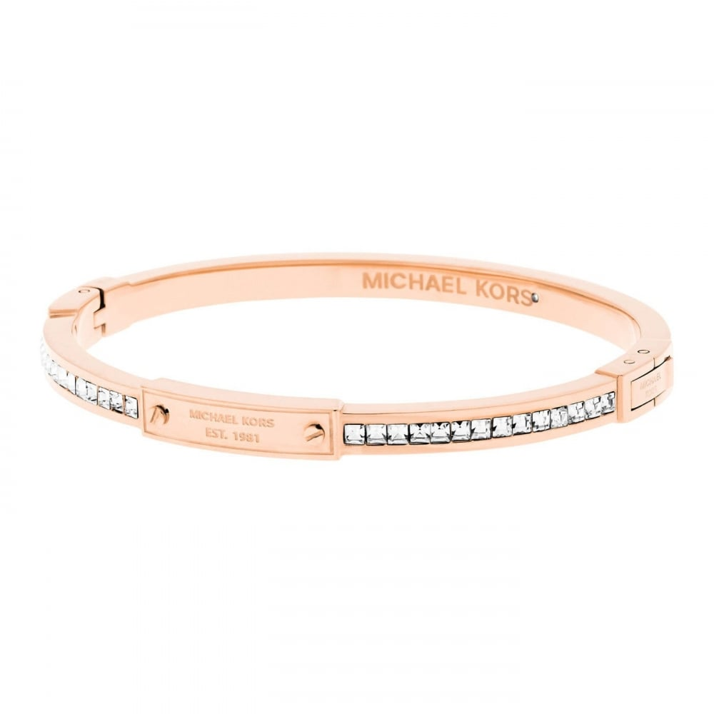5226b2a8daae Michael Kors Brilliance Rose Gold Tone Bangle - Jewellery from Faith ...