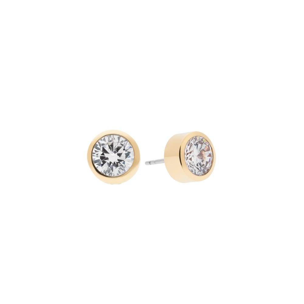 33c0a7754fee Michael Kors Brilliance Yellow Gold Tone Crystal Stud Earrings ...