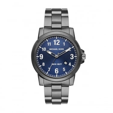 Michael Kors Gents Black and Navy Paxton Watch