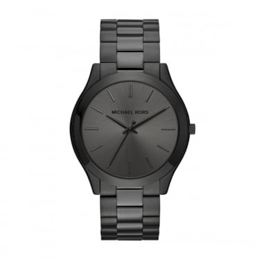 Michael Kors Gents Black Slim Runway Watch